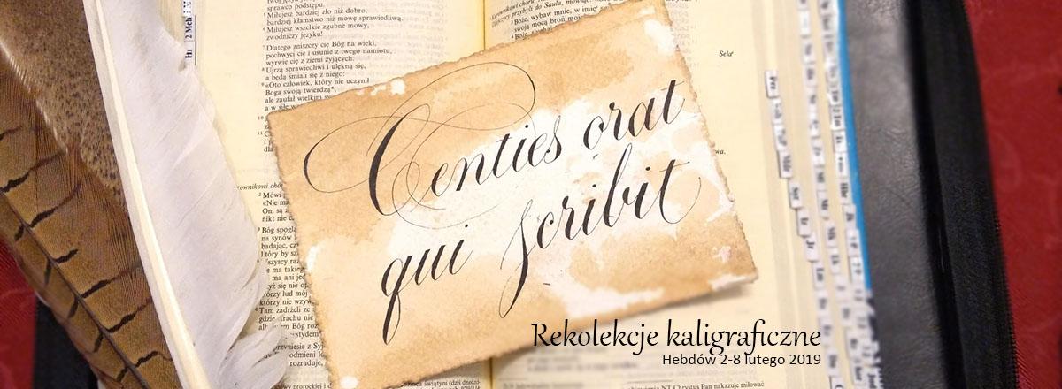 Kaligraficzne lectio divina 2019